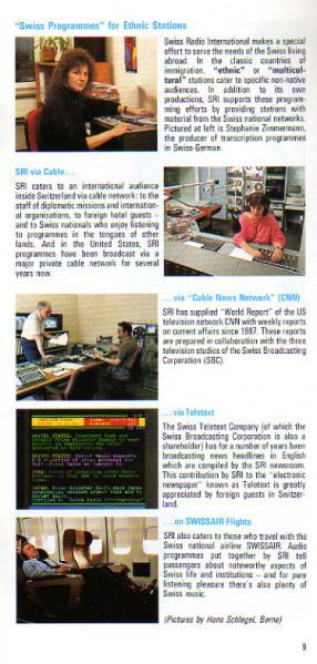 1291-1991 Switzerland, Swiss Radio International 8 9