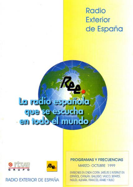 Radio Exterior de España (スペイン) 1999年夏季 番組と周波数案内