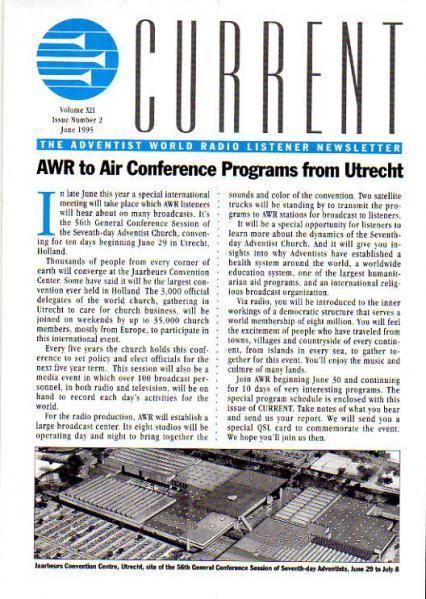 AWR CURRENT VolumeXII Number 2 June 1995