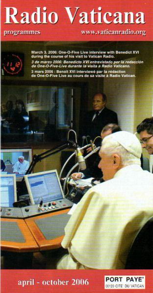 2006年4月~10月 バチカン放送スケジュール表の表紙