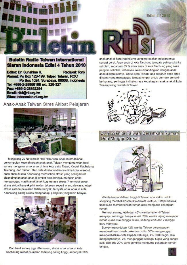 Buletin RTI SI Siaran Indonesia Edisi 4 / 2010