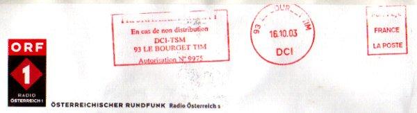 ORF ÖSTERREICHISCHER RUNDFUNK からの返信