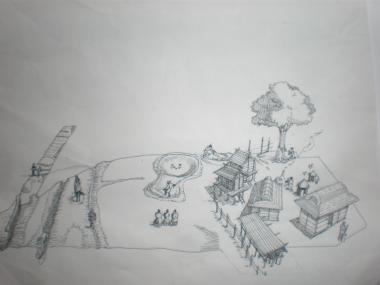 6世紀の村