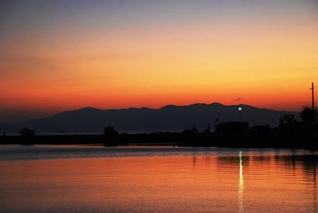 琵琶湖夕陽