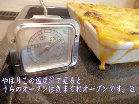 気まぐれなオーブン。温度設定がちっとも・・・・泣