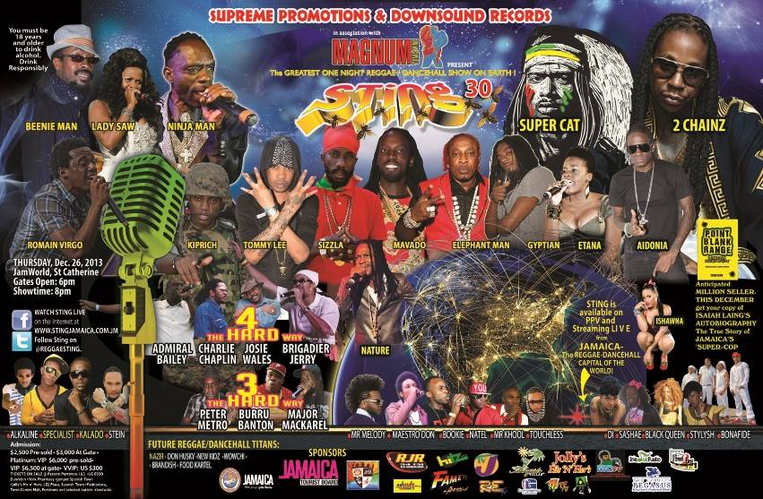 Sting Jamaica 2013 スティング ジャマイカ ポスター