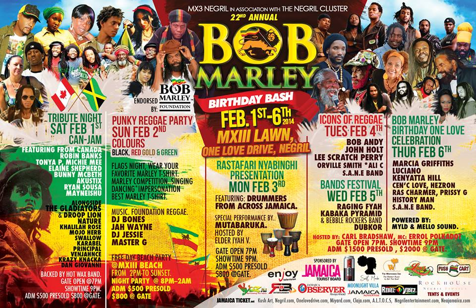 Bob Marley Birthday Bash 2014 Negril MX3