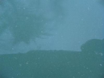 湯の花がいっぱいな温泉