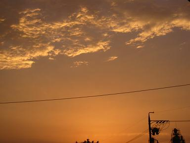 ゴールドな空♪