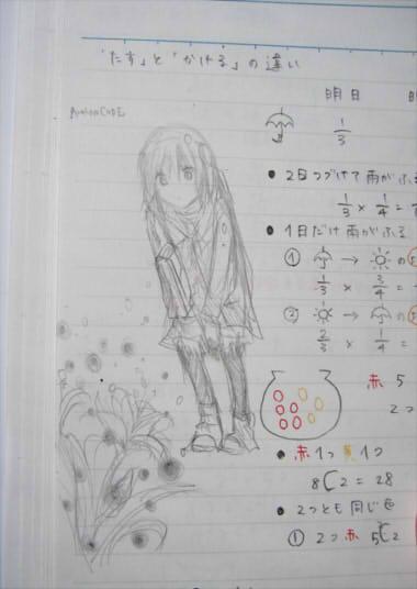 数学ノートでティア