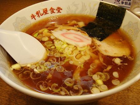 ミニラーメン(極太麺)@牛乳食堂