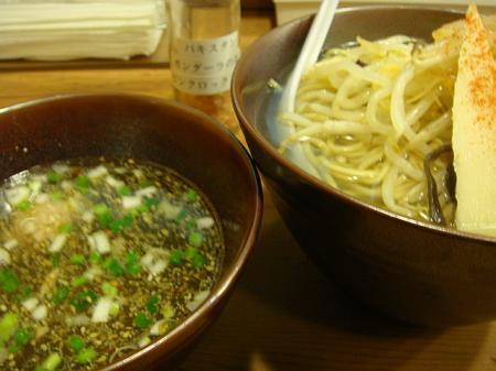 塩つけ麺(温麺300g)@イツワ製麺所食堂
