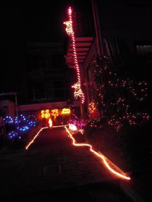クリスマスイルミ全体