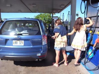 ガソリン入れます