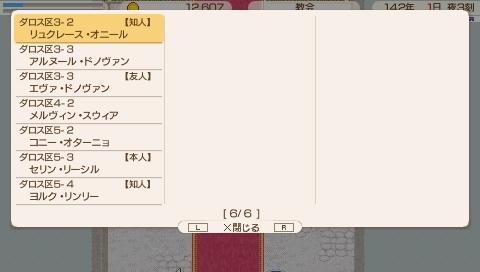 Star Symphony♪ミ-初回プレイの名簿