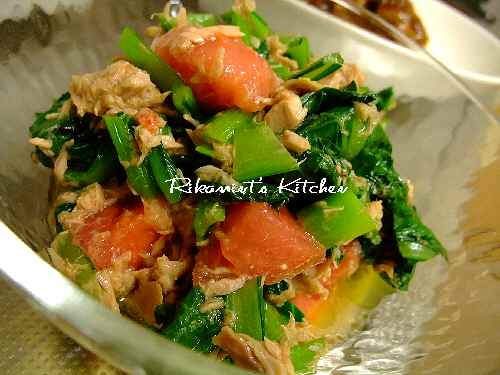 DSCF4・5小松菜のサラダ
