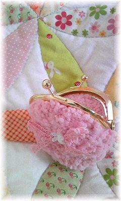 ピンクのガマ口
