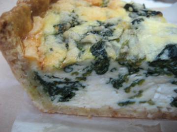 季節のキッシュ(ほうれん草とリこったチーズアップ