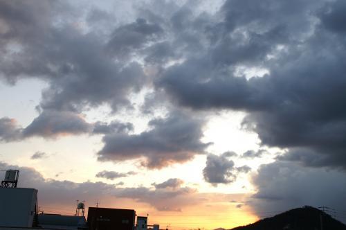 20091217朝の空