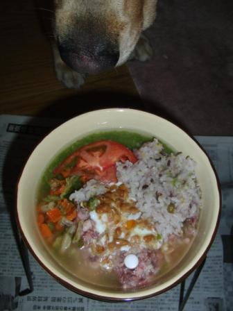 +トマト、五穀米、レバースープ.JPG