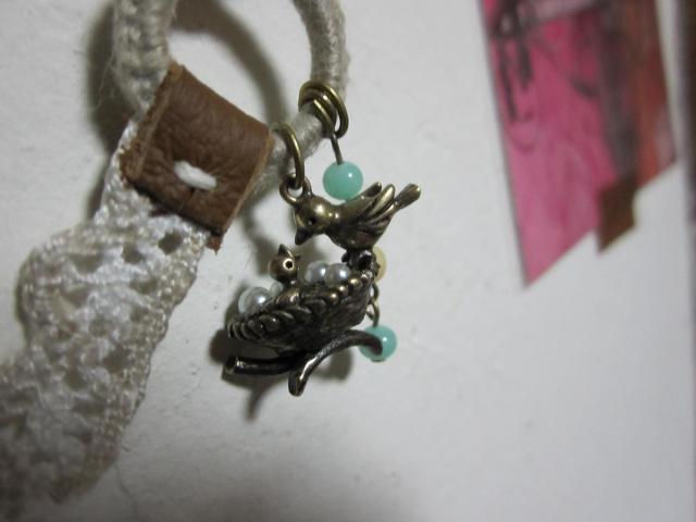小鳥チャームのネックレス2