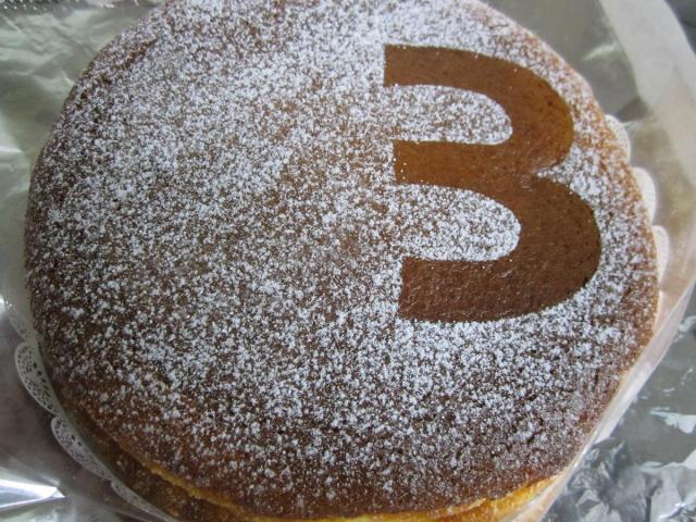 お誕生日チーズケーキ2