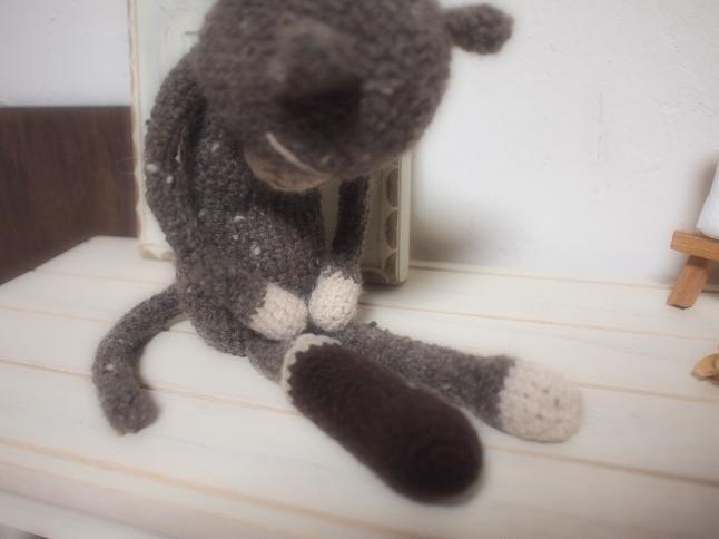 編みねこくんjr.とソックス