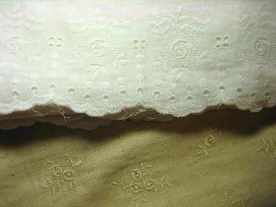 Wガーゼの刺繍生地