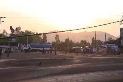 モヤレの町の朝