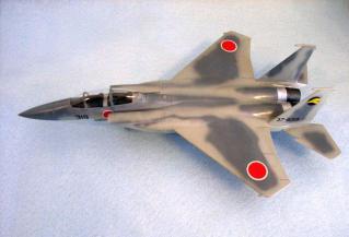 F-15を上から見たところ