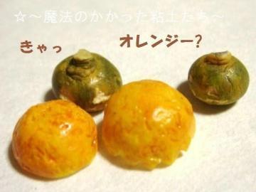 オレンジ皮の帽子・かぼちゃ達2