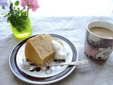 chiffon cake × anemon