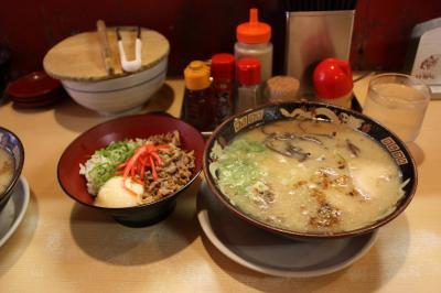 豚とろラーメン&チャーシュー丼