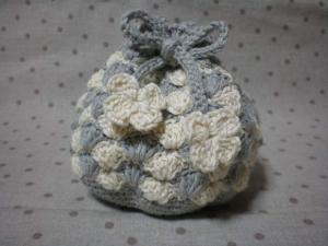 松編みポーチ