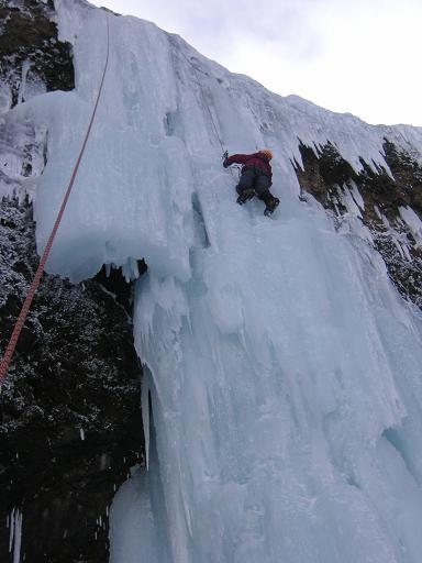 大氷柱を登る