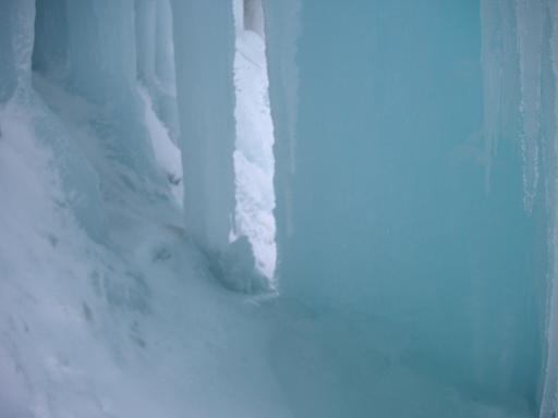 大氷柱の裏
