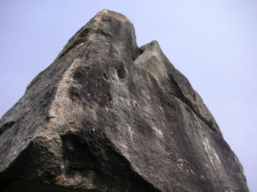 サイコロ岩の裏