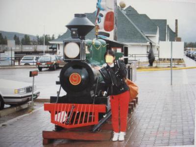 ジャスパー駅蒸気機関車