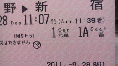 ロマンスカーチケット