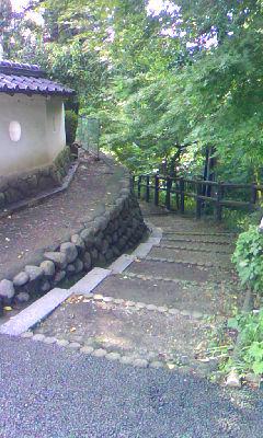 犬山城脇の坂道
