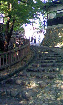 犬山城への石階段