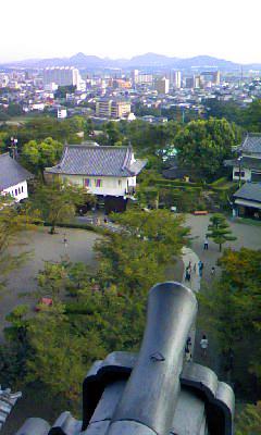 犬山城から城下町