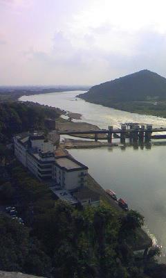 犬山城から木曽川
