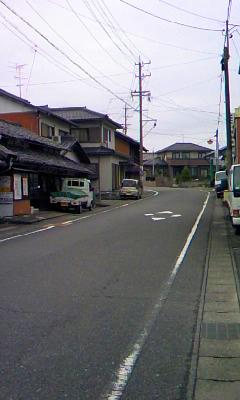 養老駅近辺の坂道