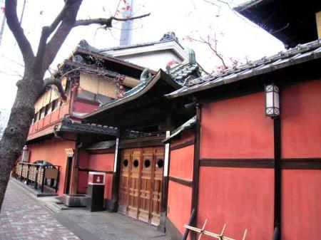 中村日赤付近 赤い建物