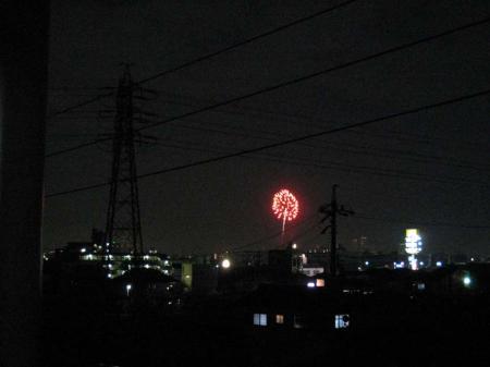 矢田川の花火1