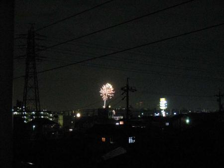 矢田川の花火2