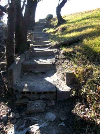 守山区瀬古付近 堤防への階段坂