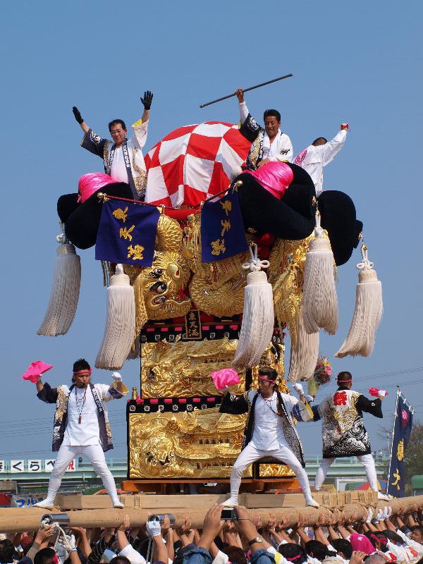 土居秋祭り 関川河川敷 東天満太鼓台