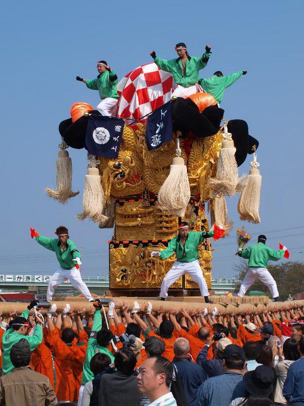 土居秋祭り 関川河川敷 上天満太鼓台